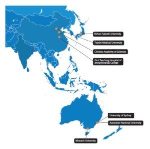 Collaborators in Asia and Australia