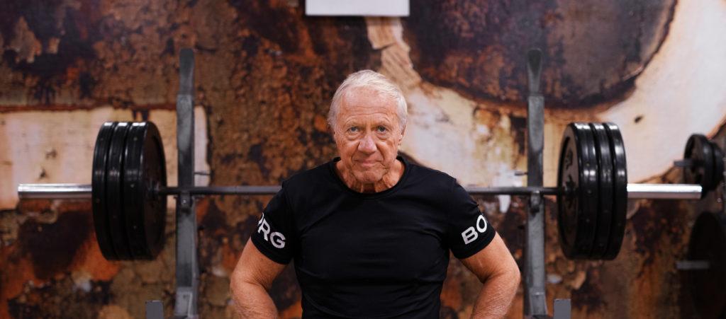 Gunnar Vistam exercising at the gym