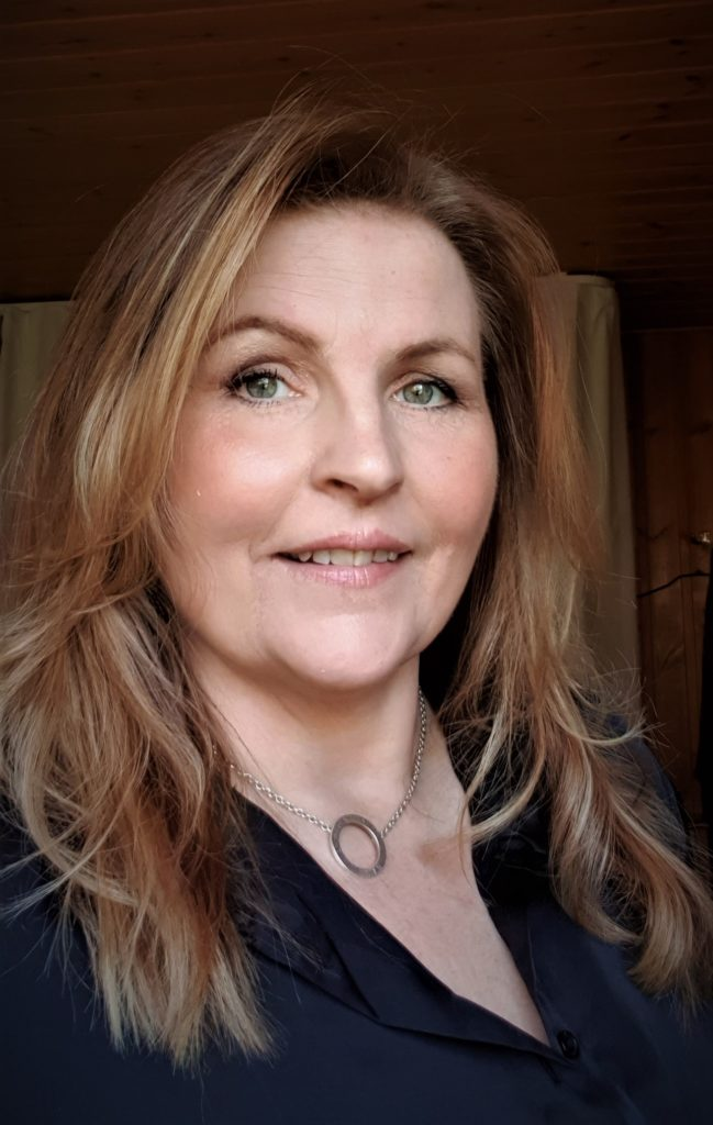 Close-up portrait of Cecilia Annerholm.